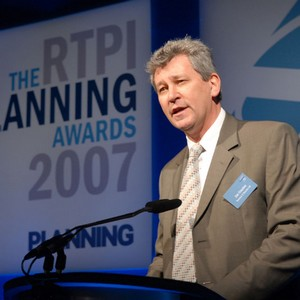 Jim gives the address at the RTPI Awards.